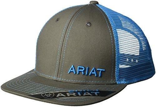 ARIAT Men's Mesh Snap Back Hat, Blue, One Size