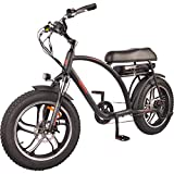 DJ Super Bike 750W 48V 13Ah Power Electric Bicycle, Matte Black, LED Bike Light, Suspension Fork and Shimano Gear