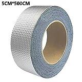 cinta de reparaci/ón Cinta de sellado autoadhesiva de aluminio sellador para techo//caravanas//huecos//pared//estanques alta y baja resistencia a la temperatura//impermeable
