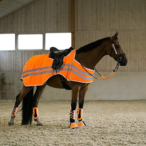 horze bZeen reflektierende Ausreitdecke, Orange, 155