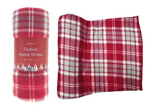SIF - Manta de Forro Polar para sofá o Cama (120 x 170 cm), Color Rojo