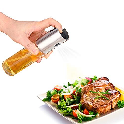 Aceite Vinagre, Oil Sprayer, aceite de oliva pulverizador, acero inoxidable dispensador de aceite y vinagre ölbehälter caño seguro Aceitera, cocinar y ensalada Especias Cocina Herramientas
