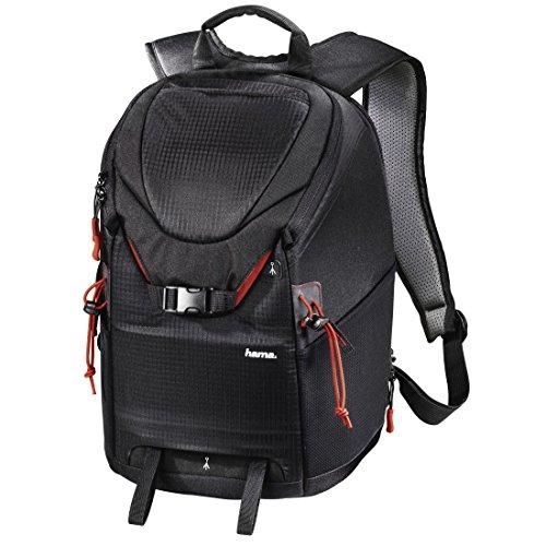Hama Kamerarucksack für DSLR Kamera und Ausrüstung (Fotorucksack, 15 L, Schnellzugriff, Tabletfach, Regenschutz, Stativhalterung, handgepäcktauglich) schwarz