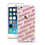 licaso Handyhülle für iPhone 5 und 5S SE aus TPU mit Baewatch Chicks Pink Playboy Print Design Schutz Hülle Protector Soft Extra
