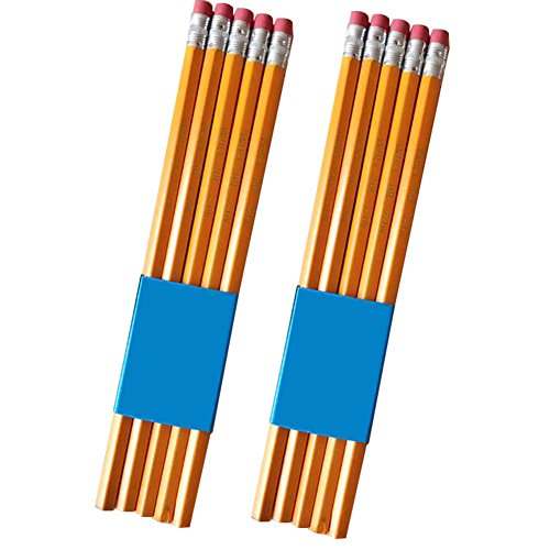 FOReverweihuajz 10 stuks HB potlood met rubber gum studenten kinderen school levering briefpapier - geel 1 Geel