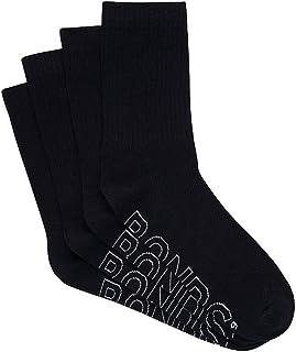 Bonds Men's Logo Light Crew Socks (4 Pack)