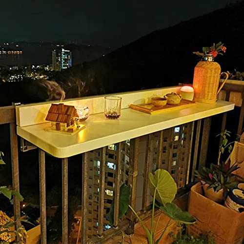 Mesa de terraza Plegable para balcón Ajustable,Mesas auxiliares al Aire Libre,Mesa de...