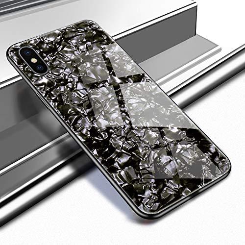 Caler Hülle Kompatibel mit Xiaomi Redmi S2 Hülle Hochwertigem 9H Gehärtetem Marmor Glas Rückseite mit TPU Rahmen Schutzhülle Ultra Dünn Handyhülle Rahmen Hüllen [Stoßfest] Slim Shell Case