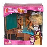 Simba - 109301944 - Masha et Michka - Poupée Ecolière - + Accessoires - 12 cm