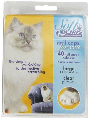 SOFTCLAWS® Krallenschutzes für Katzen - Large - Durchsichtig