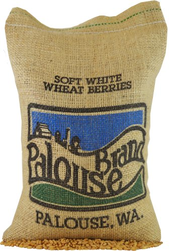 Soft White Wheat Berries • 100% Desiccant Free • 5 lbs • Non-GMO Project Verified • 100% Non-Irradiated • Certified Kosher Parve • USA Grown • Field Traced • Burlap Bag
