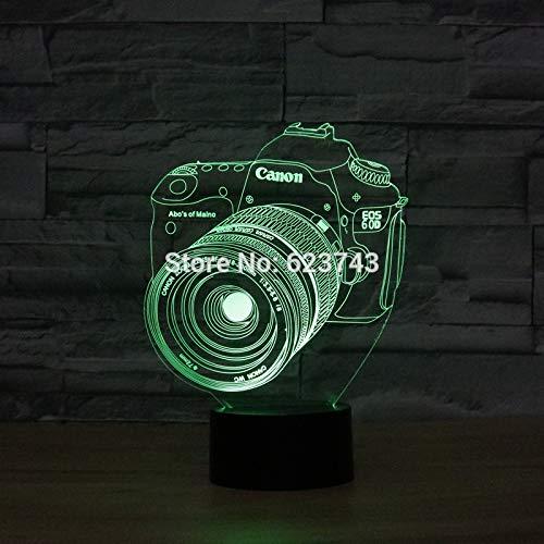 Schaltfläche Kreativer Designeffekt Nachtlicht 3D LED USB Tischlampe Kinder Geburtstagsgeschenk Nachtzimmer Dekoration