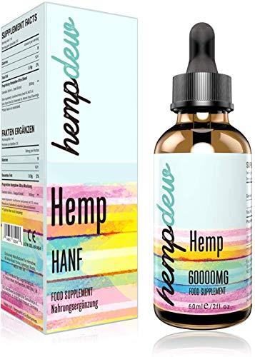 Premium Goldenes Öl Tropfen 95 Prozent-60ml   Hochfeste Formel   Vegan freundlich   Omega 3-6-9(60000)