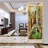 Película de cristal para puerta de ducha, diseño veneciano veneciano de Venecia, película de...