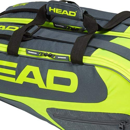HEAD Elite Tennis Racket Bag, 3 Racket Pro, Blue/Green