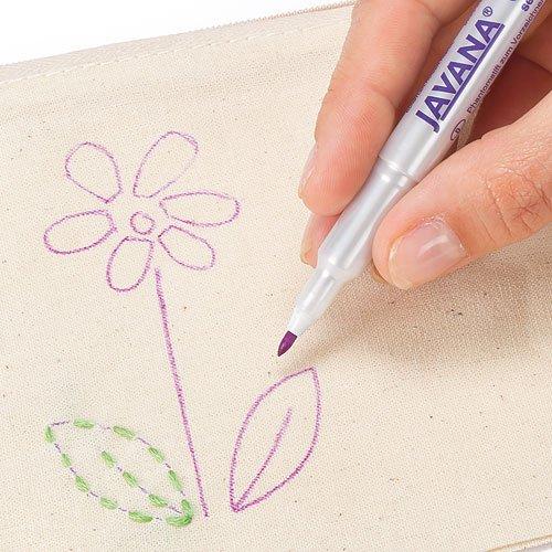 Kreul 818080 - Sublimatstift zum Vorzeichnen und Markieren auf Stoff, Seide, Karton und Keilrahmen, verschwindet von selbst an der Luft, lila