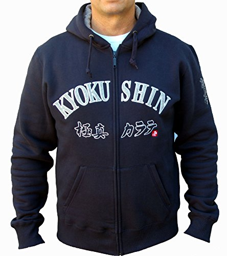 Kyokushin Karate Kapuzen Jacke,KYOKUSHINKAI Zipped Hoody, Oyama,Japan (XL)