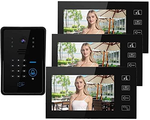 GDEVNSL Sistemas de videoportero de 7 Pulgadas de Alto Rendimiento, intercomunicador de...