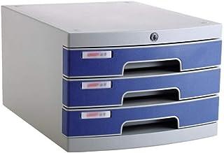 Fanuosuwr Armoire de Classement Pratique Armoire de fichier Mobile 3 tiroirs de classement de Bois d'armoire de Bureau de ...