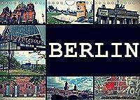 BERLIN horizontal (Wandkalender 2022 DIN A4 quer): Streets of Berlin (Monatskalender, 14 Seiten )