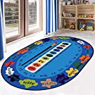 Kids Children's Educational Large Rug Carpet Alphabet ABC, Numbers Learnning Collection Playtime Play Mat for Kidrooms,Playroom and Classroom(120x200cm / 4'x6'6'')