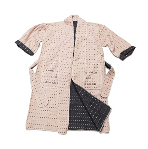 David Fussenegger Kimono S/M keep calm, katoenmix, crème, 1 x 1 cm