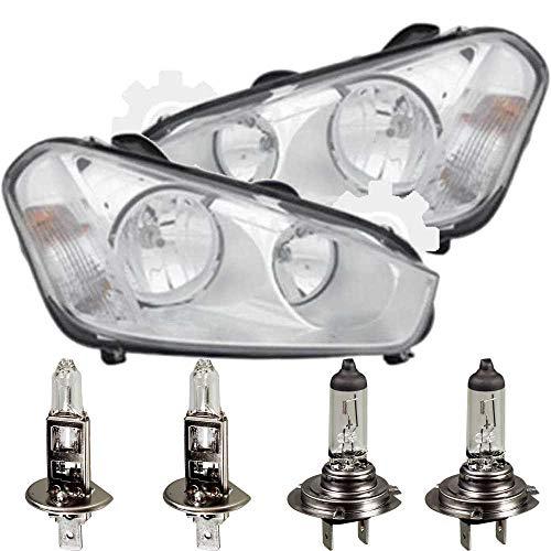 QR-Parts 69613345 Set Scheinwerfer links 1096942 + Scheinwerfer rechts 1096941 + PHILIPS H1 Vision +30% 12258PRC1 (2-Stück) + H7 Vision +30% 12972PRC1 (2-Stück)