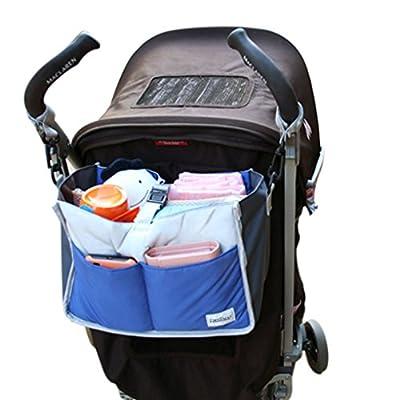 Greenery multifunción bolsa de almacenaje para cochecito capazo gran capacidad Pochette-Organizador para bebé