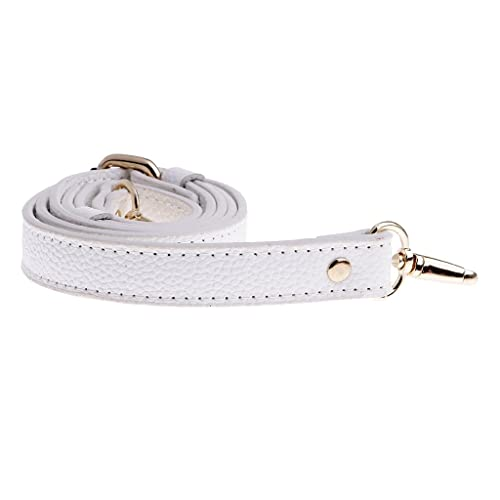 ed4aa840cf2a MagiDeal Adjustable Genuine Leather Handbags Shoulder Bag Strap Handle  Replacement Bag Accessories - White