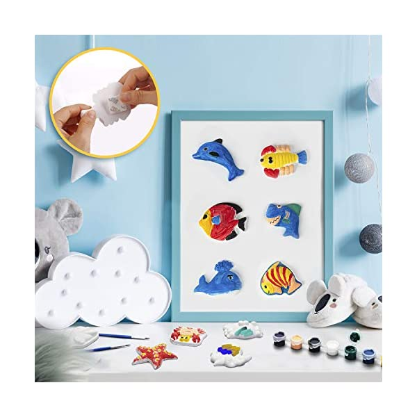 Tigerhu-55-Pcs-Kids-Crafts-and-Arts-Set-Painting-Kit-Paint-by-Numbers-for-Kids-Painting-Your-Own-Figurines-Includes-27-Figurines-8-Pots-of-Paint16-stickers-4-Brushes-Complete-Plaster-Craft-Kit