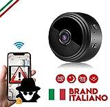 MERIO Telecamera Wi-Fi Interno Microcamera Spia Nascosta Action Cam Telecamera Wi-fi ester...