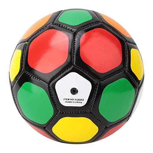 Fútbol de entrenamiento, pelotas deportivas para niños, softball de juguete con diámetro de 13 cm, tamaño 2, pelota de juego para exteriores/interiores adecuada para niños estudiantes(Colorido