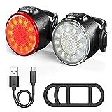 Fahrradlichtset, LED-Fahrradlampen-Set, Fahrradlampen-Set, USB aufladbare Frontleuchte, Rücklicht-Set, IPX5 wasserdicht, 6 Helligkeitsmodi, Led-Fahrradlicht, perfekt für Mountain- oder Rennrad