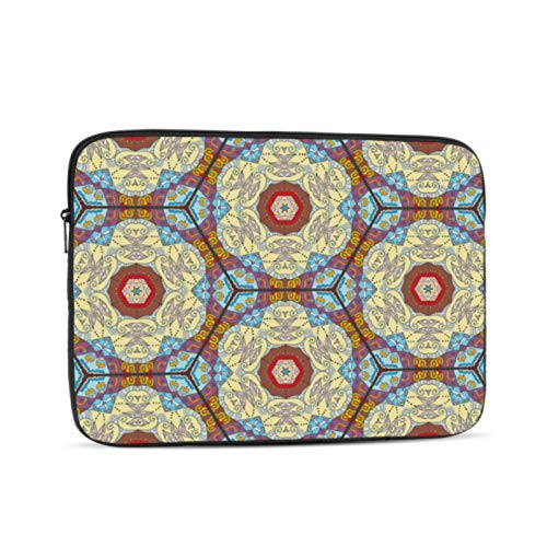 12 Inch MacBook Case Colorful Seamless Mosaic Style Abstract Mac Air Laptop Case Multi-Color & Size Choices 10/12/13/15/17 Inch Computer Tablet Briefcase Carrying Bag