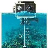 FOUR Sport Fotocamera Full HD 1080P WiFi Azione Impermeabile Cam 2'LCD Schermo 98ft Underwater 170 ° grandangolo Sport Fotocamera con Kit Accessori di Montaggio