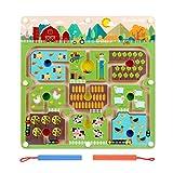 FunnyGoo Square Maze Puzzle Labirinto interattivo Beads Maze a bordo gioco Educational toy crafts - Farmer in the Farm