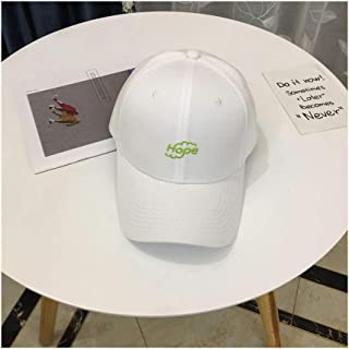 Hats Hat Female Spring Summer Wild Baseball Cap Casual Embroidery Simple Letter Cap Couple Student Cap Fashion (Color : White, Size : F)