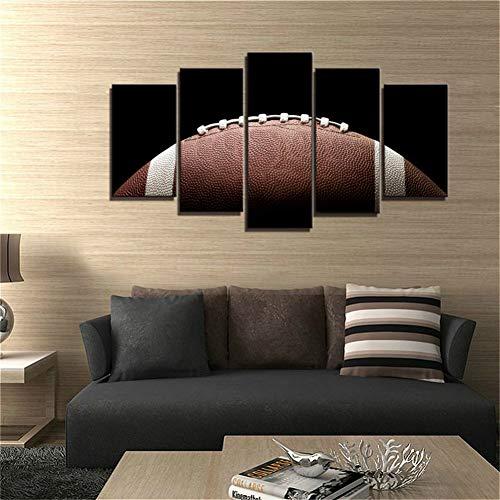 POLLKK 5 Tafelmalerei 5 Panel American Football Leinwand Malerei Drucke Wandkunst Wohnkultur Poster Bilder Für Wohnzimmer Malerei