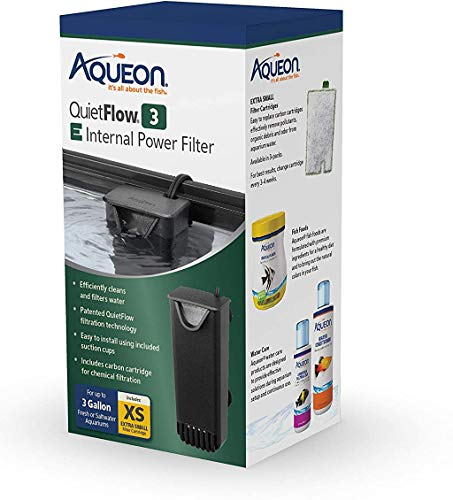 Aqueon Quietflow E Internal Power Filter, 3 Gallon