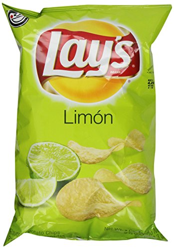 Lay's Limon Flavored Potato Chips 7.5 oz Bags (Pack of 1)