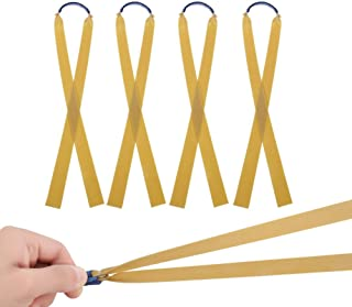 Moguer 16Pcs Thickness Flat Rubber Bands Latex Band Slingshots Catapult Replacement Bands Elastic Bungee for Hunting