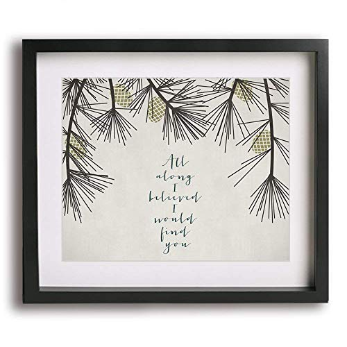 A Thousand Years by Christina Perri inspired wedding song lyric wall art print,...