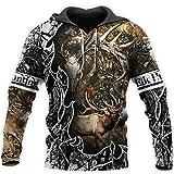 Camo Amo cazando Animales Ciervos 3D Art Hoodies Hombres Mujeres Camiseta de Manga Larga suéter...