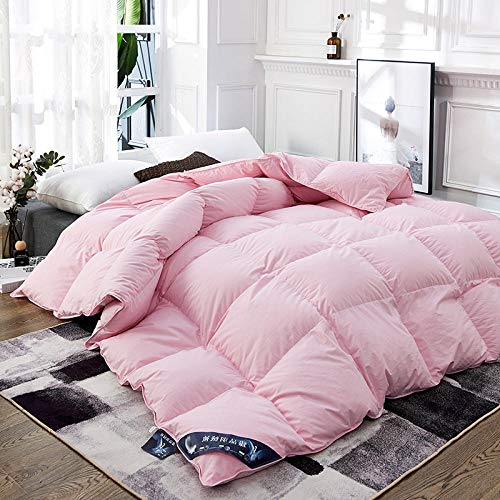 CHOU DAN Warm and comfortable 95% White Goose Down Quilt Duvets For Home Hotel Winter Warm King Bedclothes Queen Size Comfortable Comforters Blanket Full Twin-150x200cm 3kg_Pink