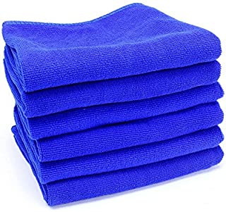 Hanbaili 5 peças de pano de limpeza de microfibra automotiva grande, toalha de limpeza macia para limpeza de óculos de car...