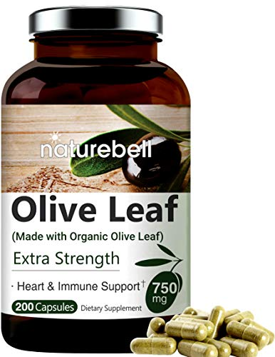 small 200 capsules made from olive leaf extract 750 mg, organic olive leaves, active polyphenols, …