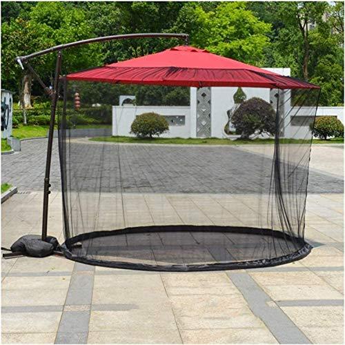 SJBD-Coaster Cubierta portátil para Mosquitos de jardín al Aire Libre, Fundas de sombrilla de Patio Parasol Impermeable Fibra de poliéster para sombrilla o un Gazebot - Sin sombrilla y Base