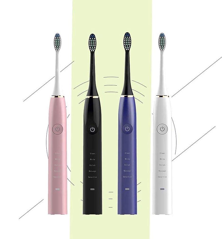 サミット子音しかし電動歯ブラシ、インテリジェントソニック電動歯ブラシ、誘導充電式自動歯ブラシ、スマートタイマー、大人子供(カラー:ホワイト)