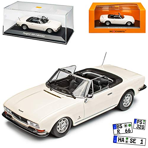 MAXICHAMPS Peugeot 504 Cabrio Weiss 1968-2005 1/43 Minichamps Modell Auto