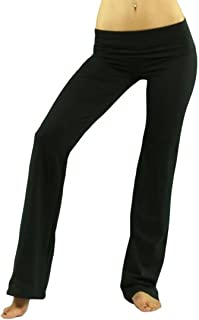 ToBeInStyle Women's Low Rise Sweatpants w/Fold-Over Waistband